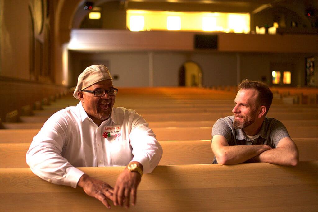 Maurice and Matt at their church
