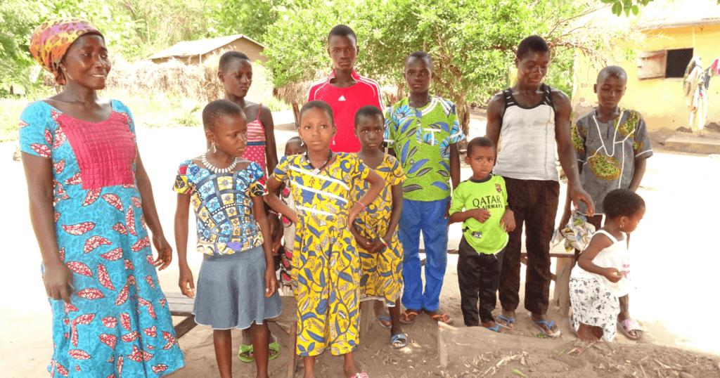Djaka Djigbodji and her family