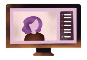 Illustration of a computer screen