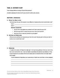 Tool #3: Action Plan